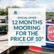 12 Months for 10 On New Moorings!